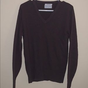 Christian Dior Brown V-Neck Sweater